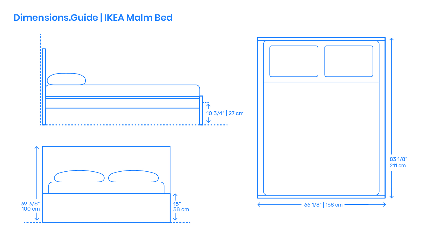 Ikea Malm Bed Frame Dimensions Drawings Dimensions Com