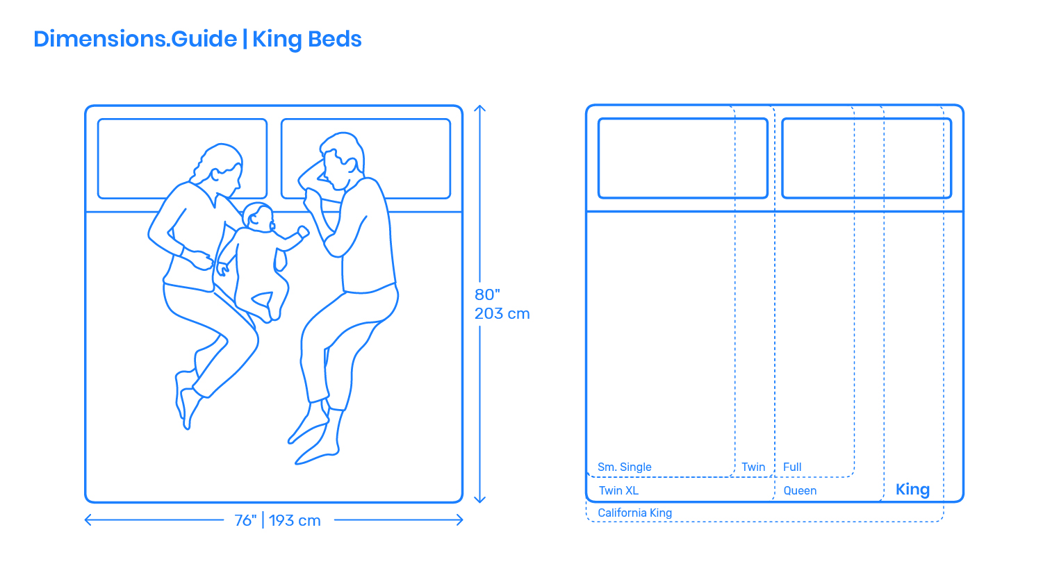 King Size Bed Dimensions Drawings Dimensions Guide