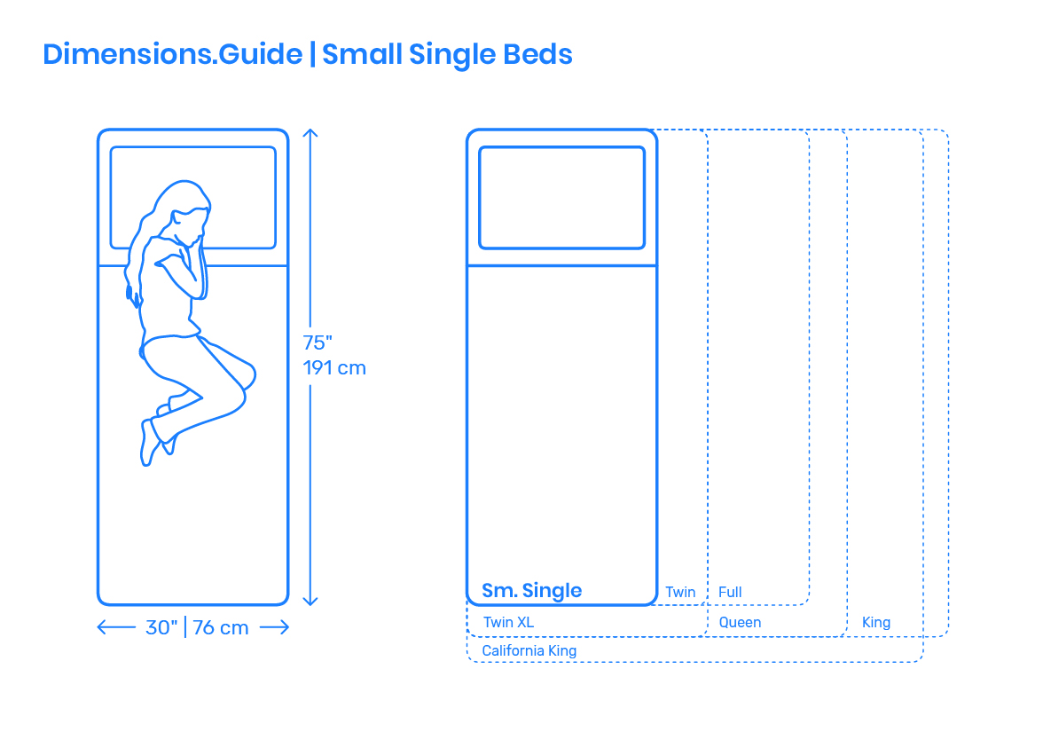 Small Single Bed Dimensions Amp Drawings Dimensions Guide