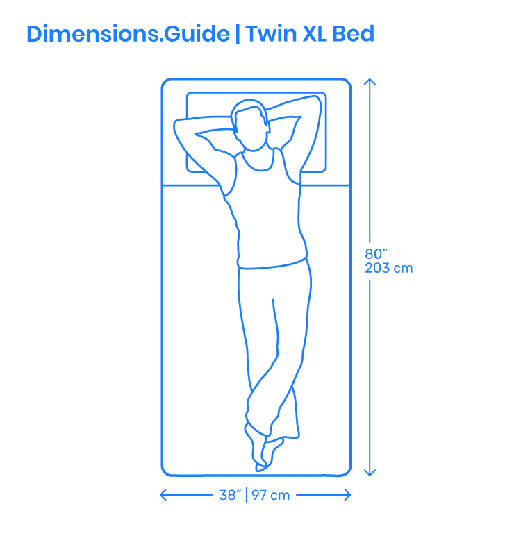 Twin XL Bed Dimensions & Drawings | Dimensions.com