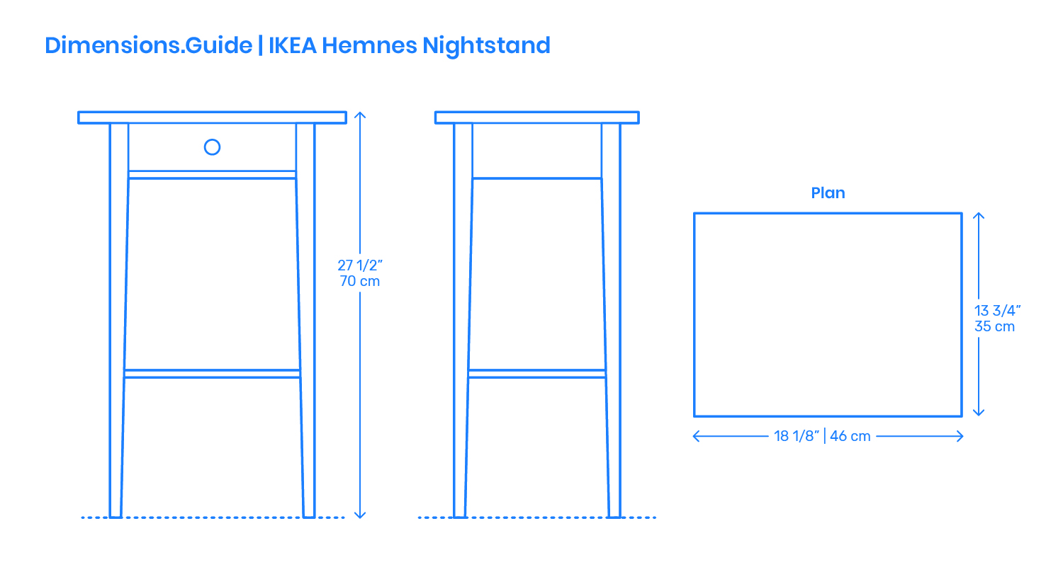 Ikea Hemnes Nightstand Dimensions Drawings Dimensions Guide