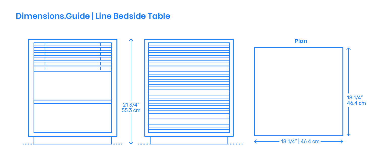 Line Bedside Table Dimensions Drawings Dimensions Guide