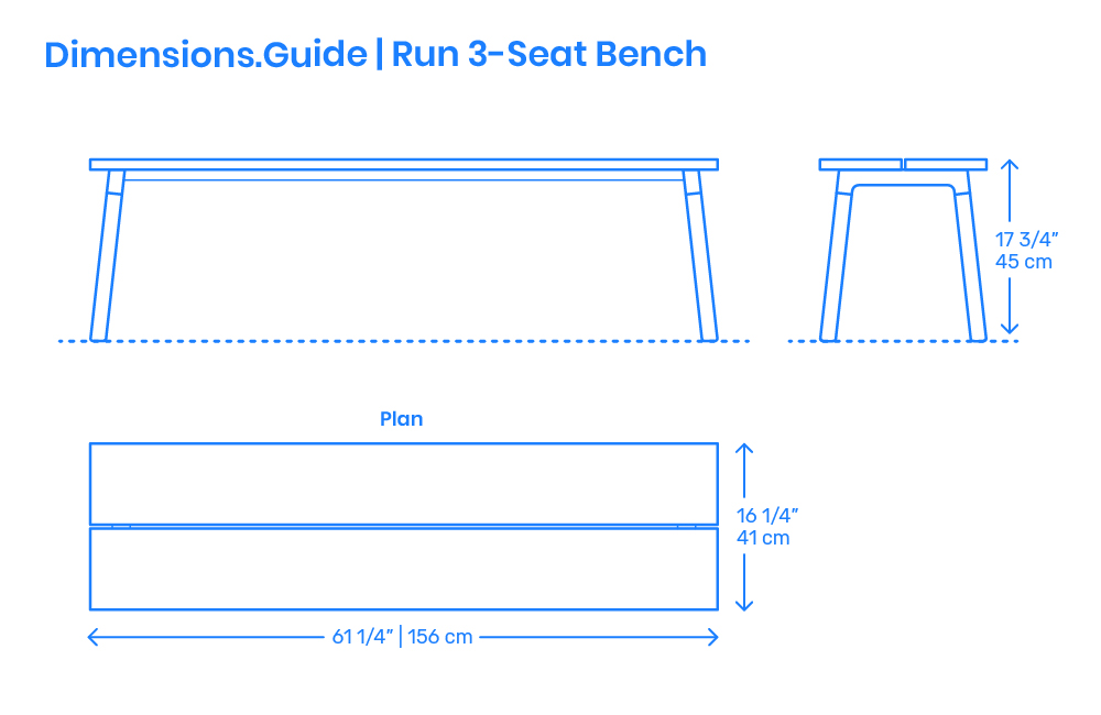 Pleasant Run 3 Seat Bench Dimensions Drawings Dimensions Guide Ocoug Best Dining Table And Chair Ideas Images Ocougorg