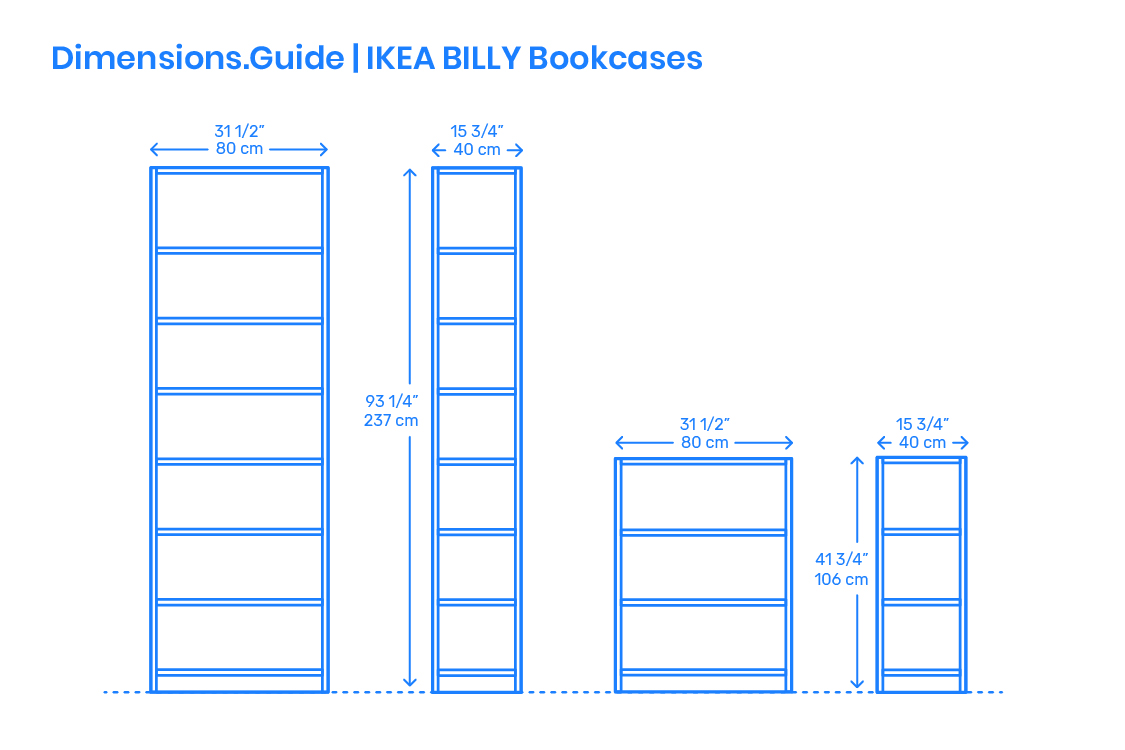 Ikea Billy Bookcases Dimensions Drawings Dimensions Guide