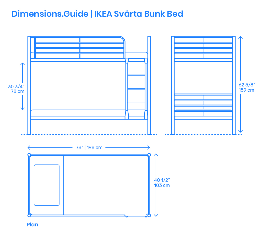 Ikea Svarta Bunk Bed Dimensions Drawings Dimensions Com