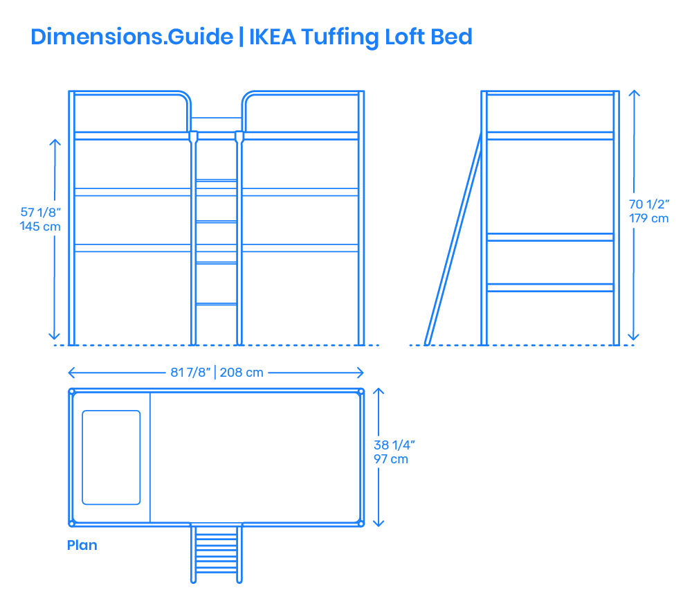 Ikea Tuffing Loft Bed Dimensions Amp Drawings Dimensions Guide