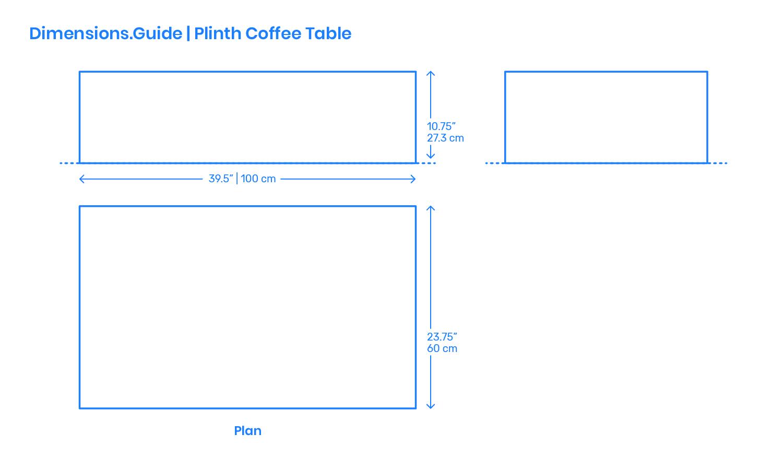Plinth Coffee Table Dimensions Drawings Dimensions Com