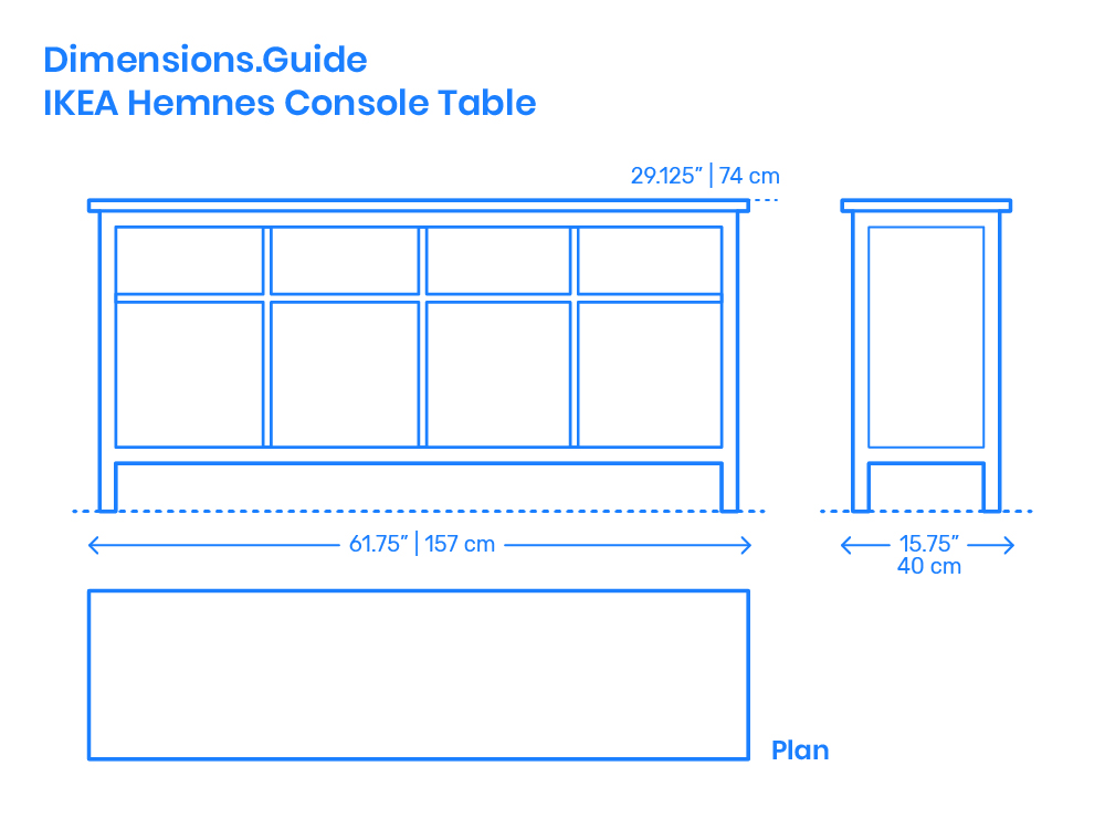 IKEA Hemnes Console Table Dimensions & Drawings | Dimensions.com