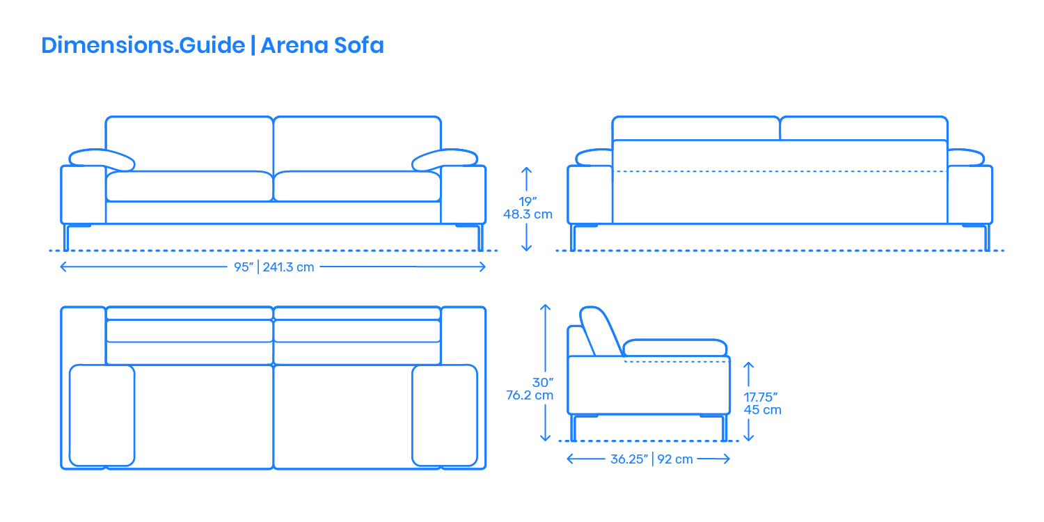 Arena Sofa Dimensions Amp Drawings Dimensions Guide