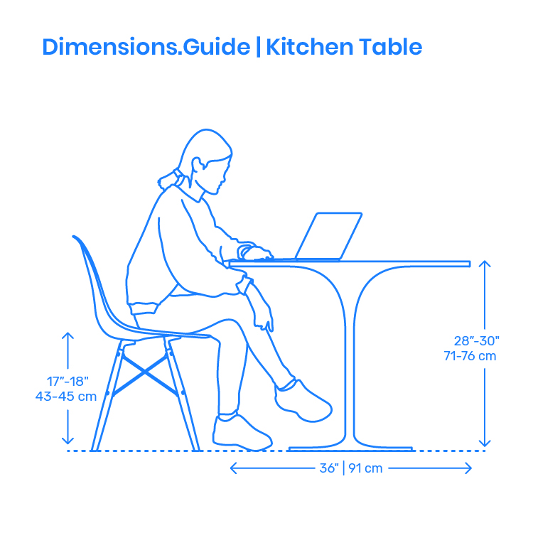 Kitchen Tables Dimensions & Drawings | Dimensions.Guide