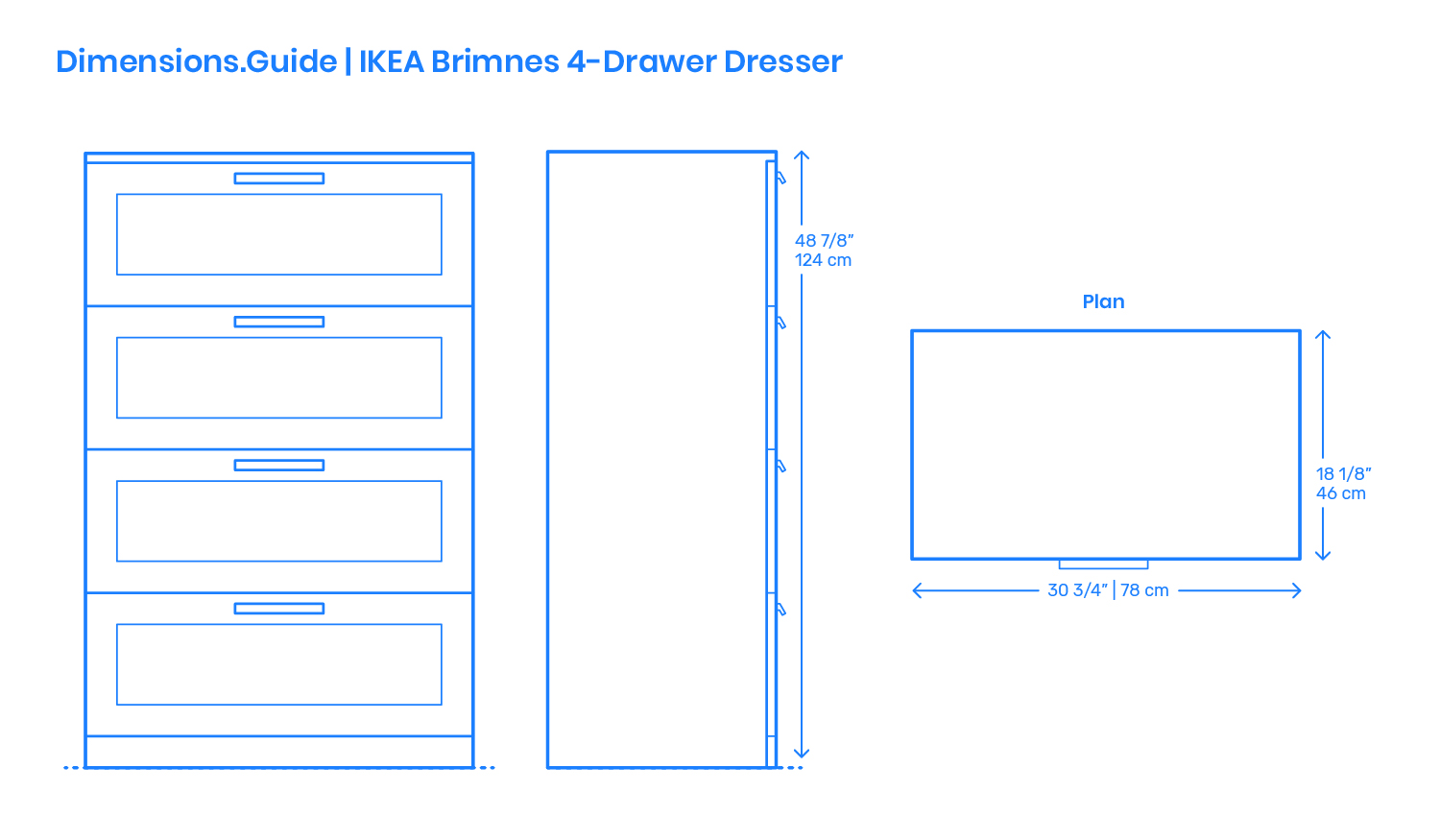 Picture of: Ikea Brimnes 4 Drawer Dresser Dimensions Drawings Dimensions Com