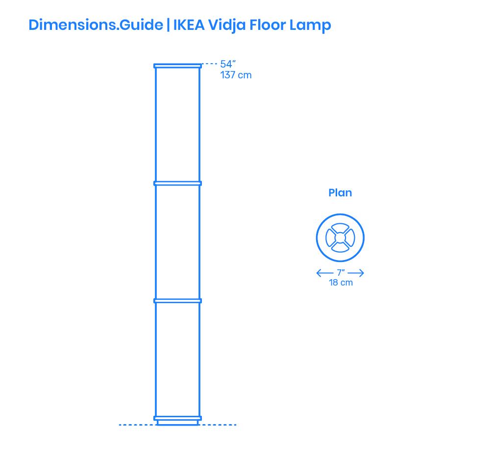 Ikea Vidja Floor Lamp Dimensions Drawings Dimensions Guide