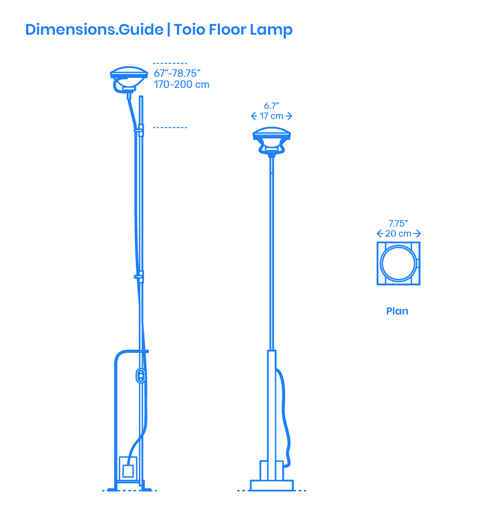 Ikea Hektar Floor Lamp Dimensions Amp Drawings Dimensions