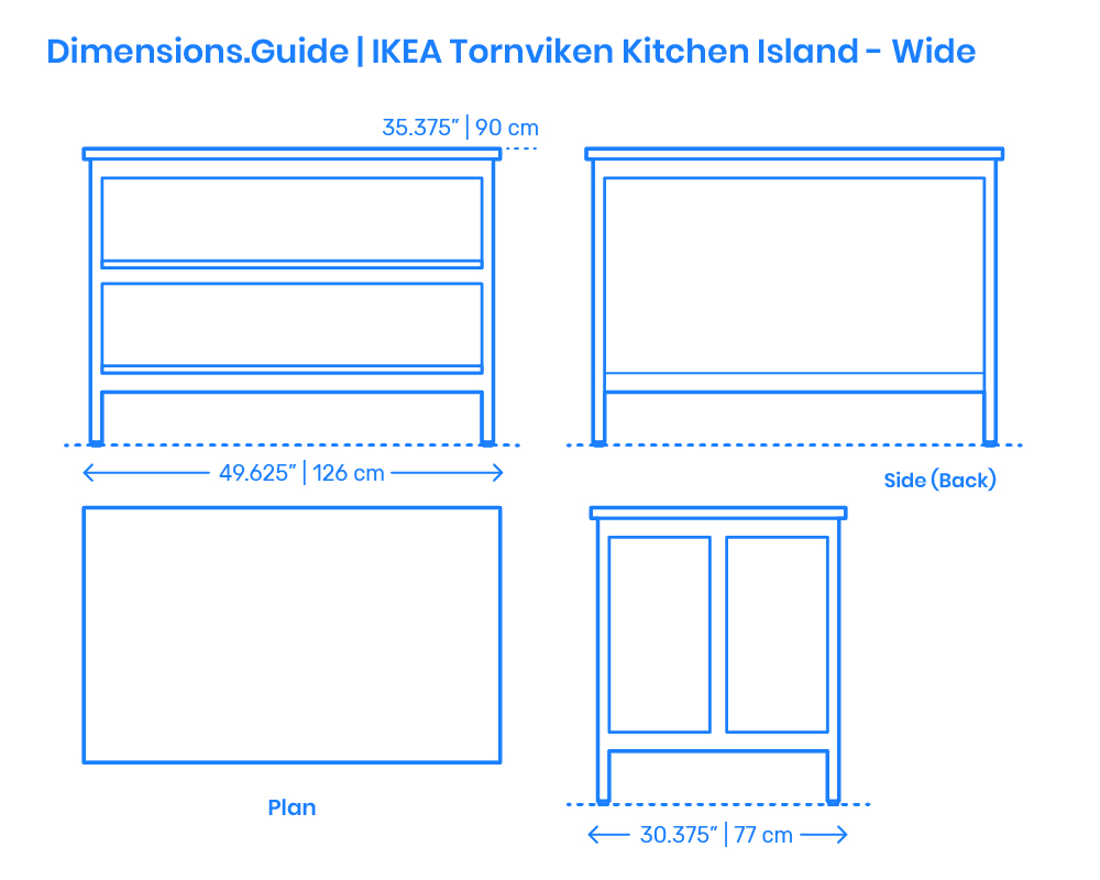 Ikea Tornviken Kitchen Island Wide Dimensions Drawings Dimensions Com