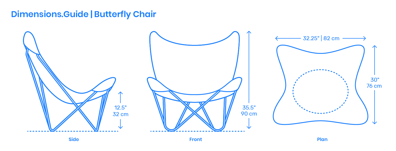 Butterfly Bkf Chair Dimensions Drawings Dimensions Guide