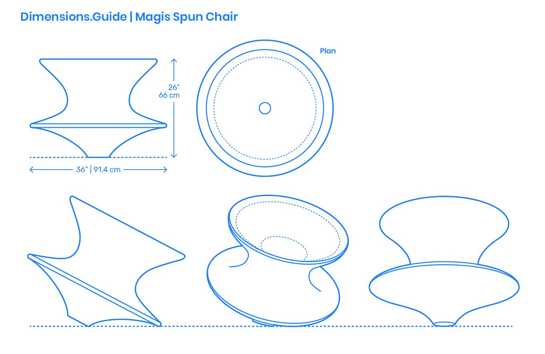 Magis Spun Chair Dimensions Amp Drawings Dimensions Guide