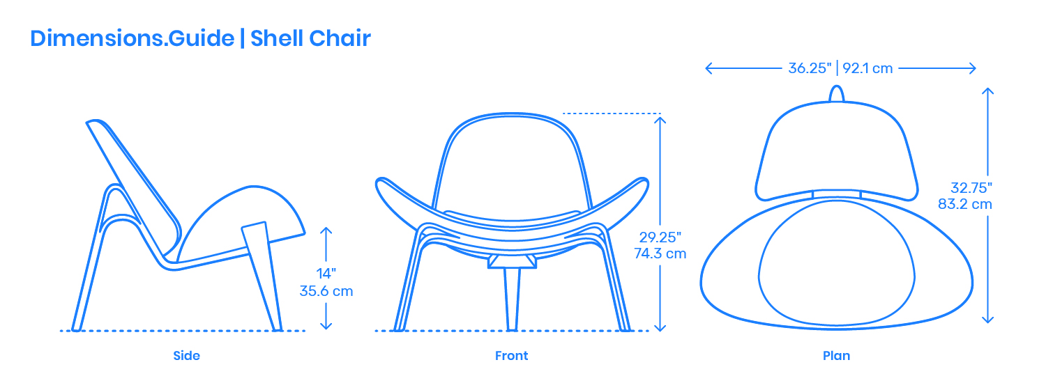 Egg Chair Afmetingen.Shell Chair Dimensions Drawings Dimensions Guide