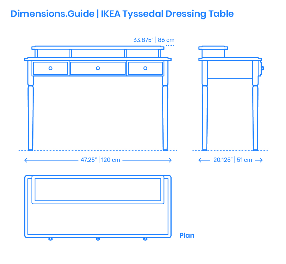Ikea Tyssedal Dressing Table Dimensions Drawings Com