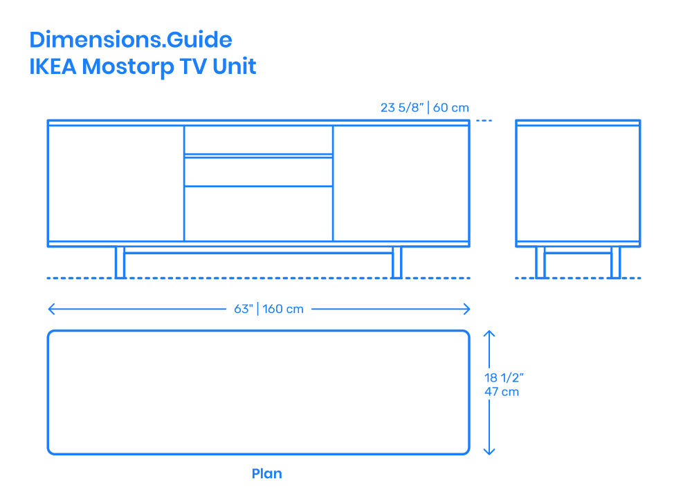 IKEA Mostorp TV Unit Dimensions & Drawings | Dimensions Guide