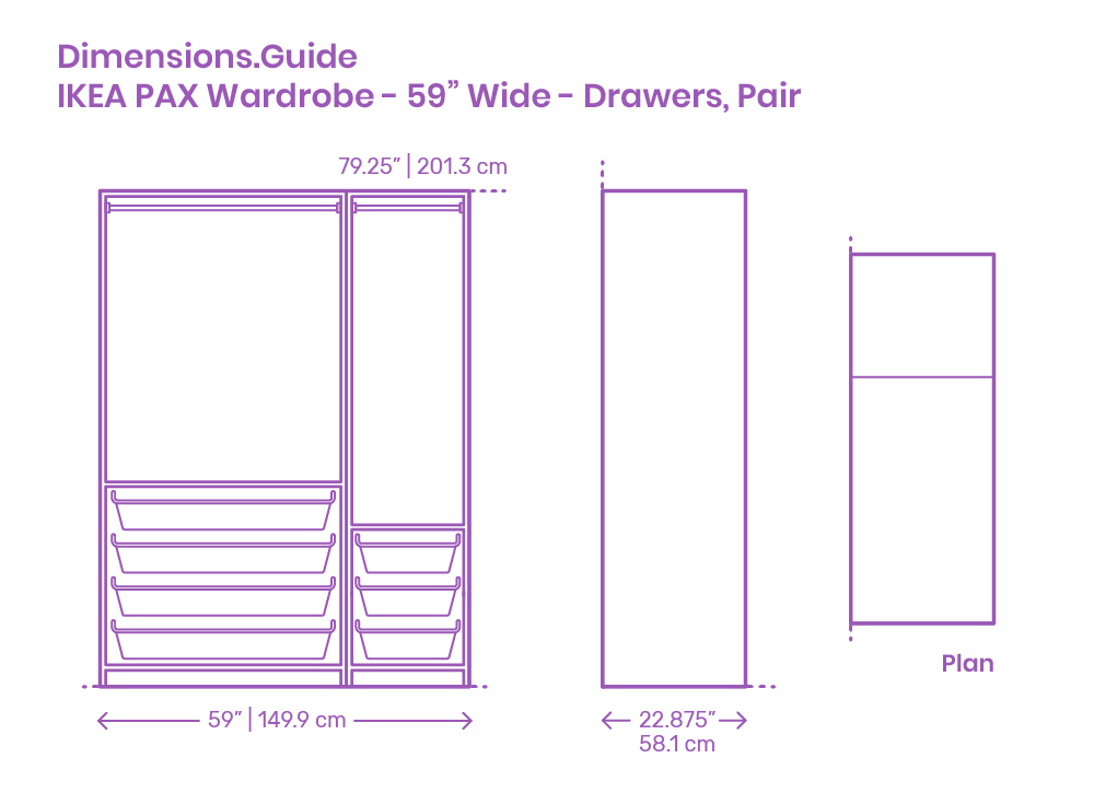 Closet Storage Dimensions & Drawings | Dimensions.Guide