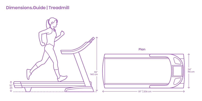 Treadmills Dimensions Amp Drawings Dimensions Guide