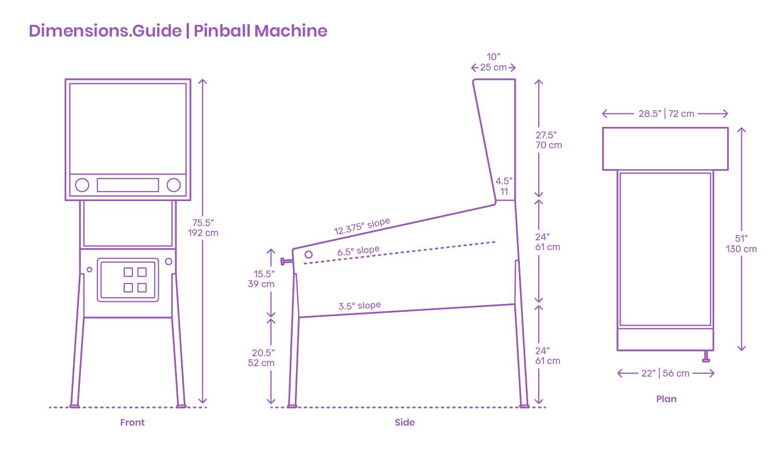 Pinball Machines Dimensions & Drawings | Dimensions Guide