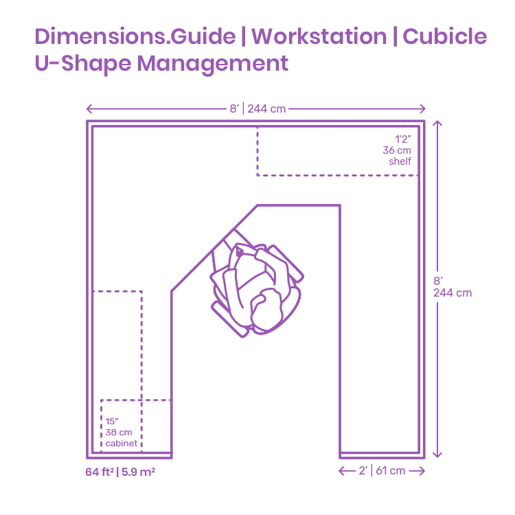 U Shape Management Workstation Cubicle Dimensions