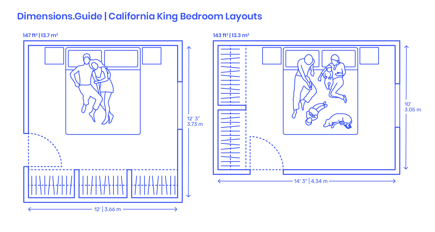 California King Bedroom Layouts Dimensions Drawings Dimensions Com