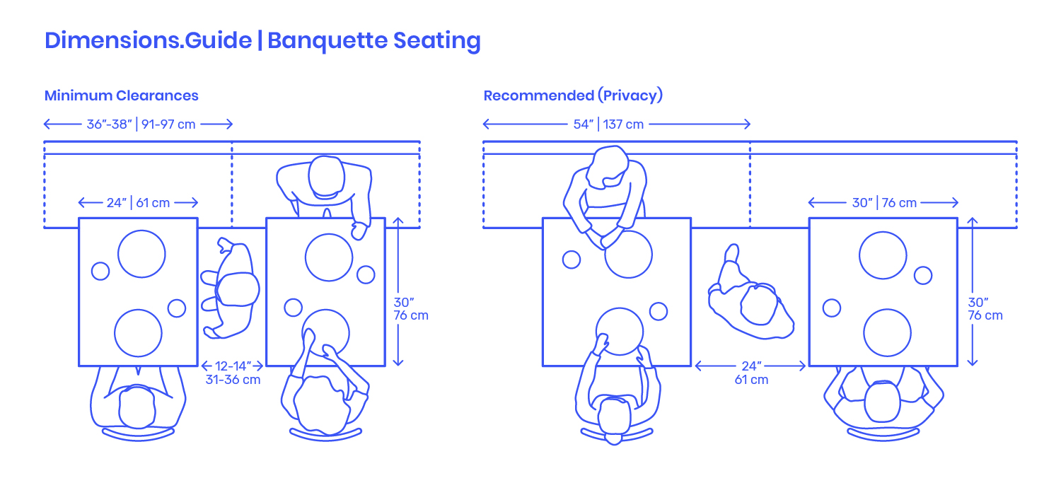 Banquette Seating Dimensions Drawings Dimensions Com