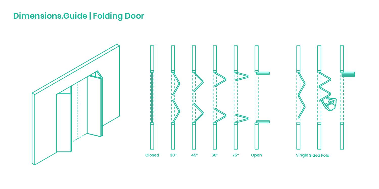 Folding Doors Dimensions Drawings Dimensions Com