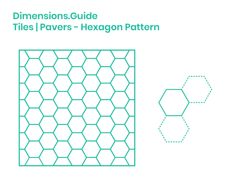 Hexagon Pattern Dimensions & Drawings | Dimensions Guide