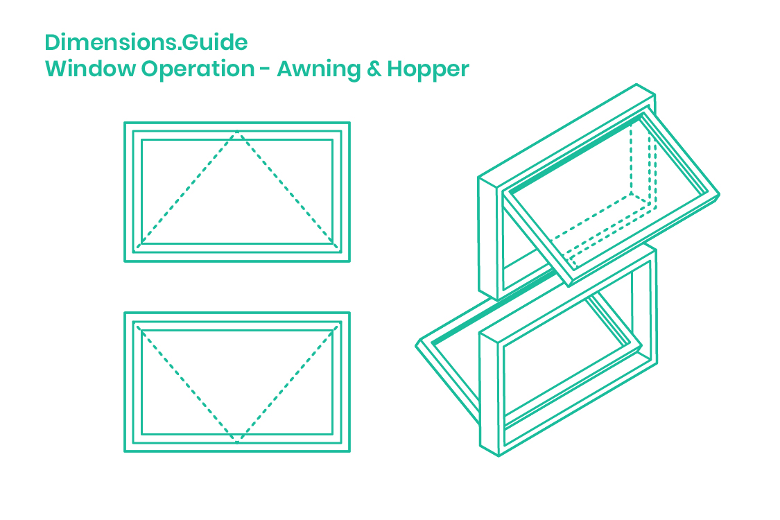 Awning Hopper Windows Dimensions Drawings Dimensions Com