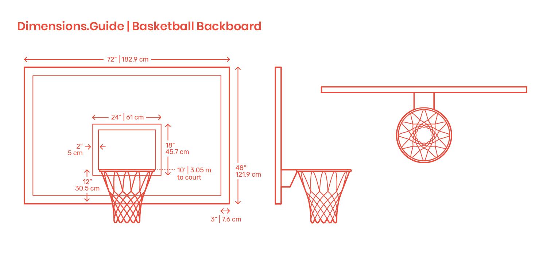 Basketball Backboards Dimensions Amp Drawings Dimensions Guide