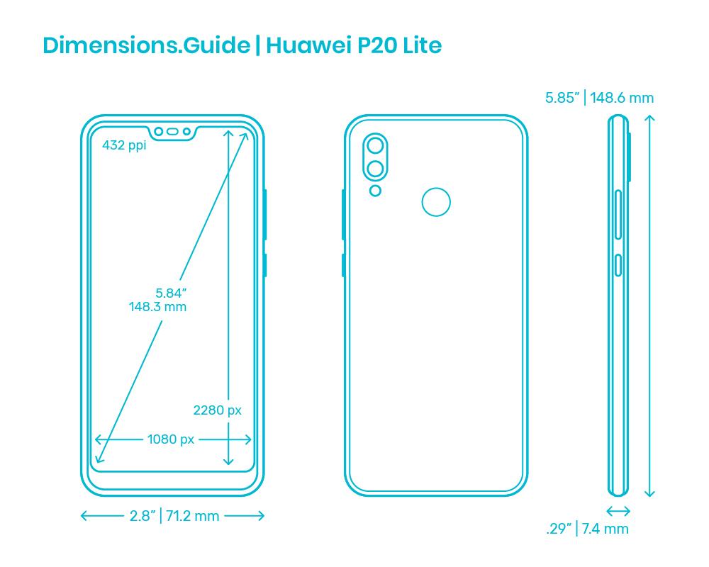Huawei P20 Lite 20 Dimensions & Drawings   Dimensions.com