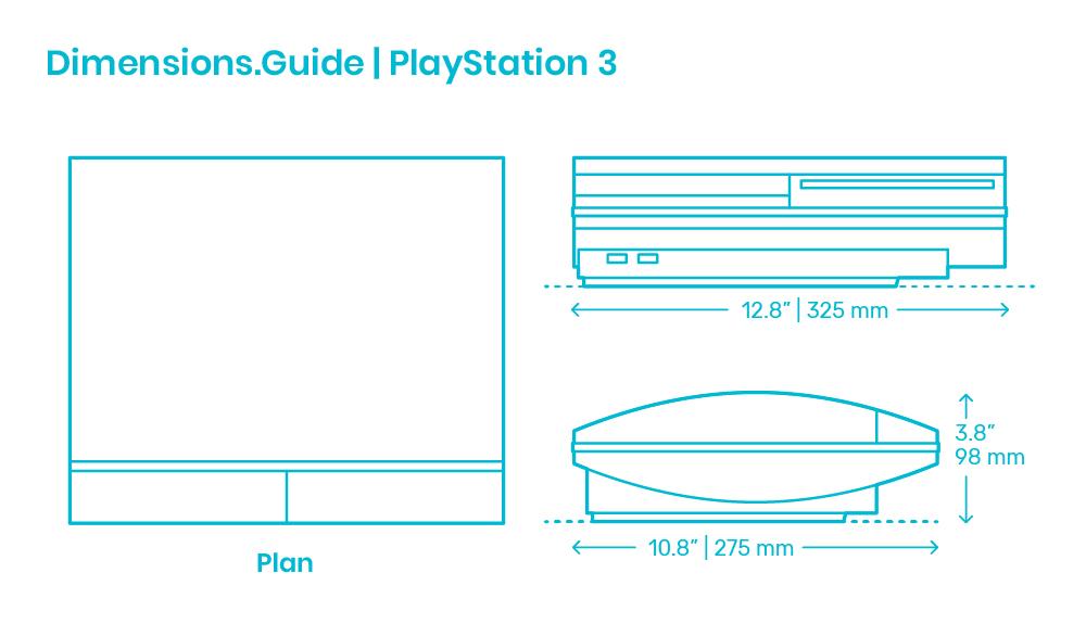 Playstation 3 Dimensions Drawings Dimensions Com